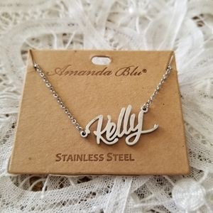 KELLY Stainless Steel Name Necklace NWT